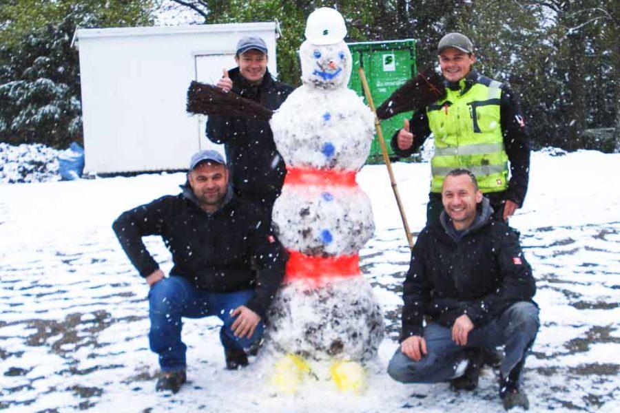 Schnee im Frühling – Gute Laune und ein neuer Mitarbeiter
